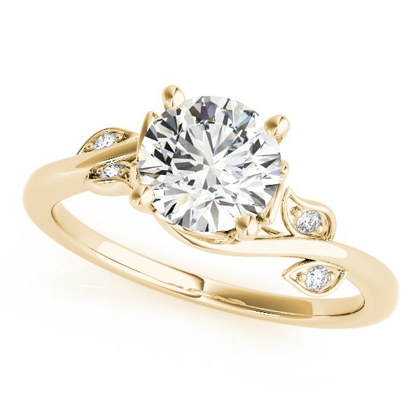 Floral Vine Engagement Ring Yellow Gold