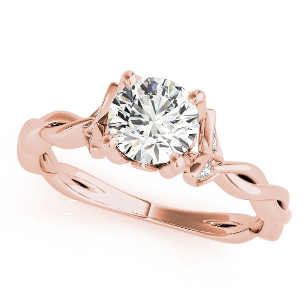 Floral Twisted Diamond Bridal Set Rose Gold