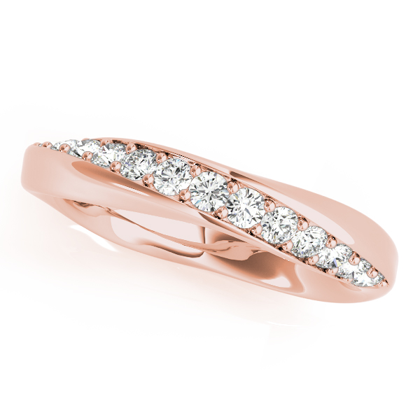 Swirl Twisted Diamond Bridal Set Rose Gold