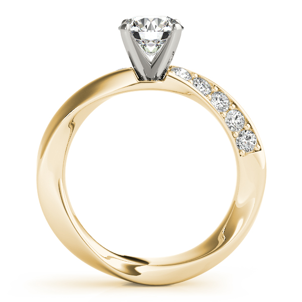 Swirl Twisted Engagement Ring Yellow Gold