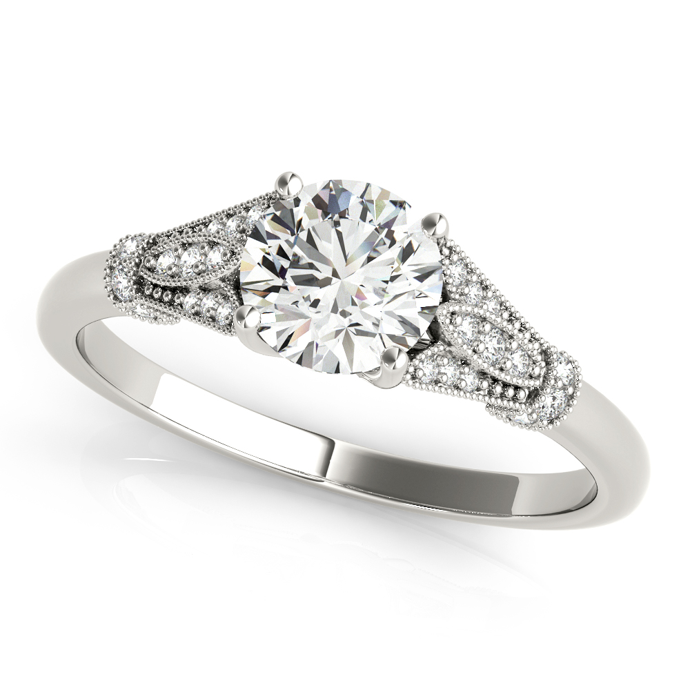 Cathedral Floral Engagement Ring