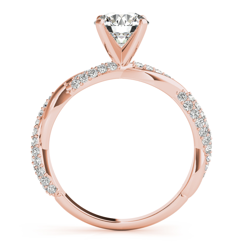 Etoil Infinity Diamond Bridal Set Rose Gold