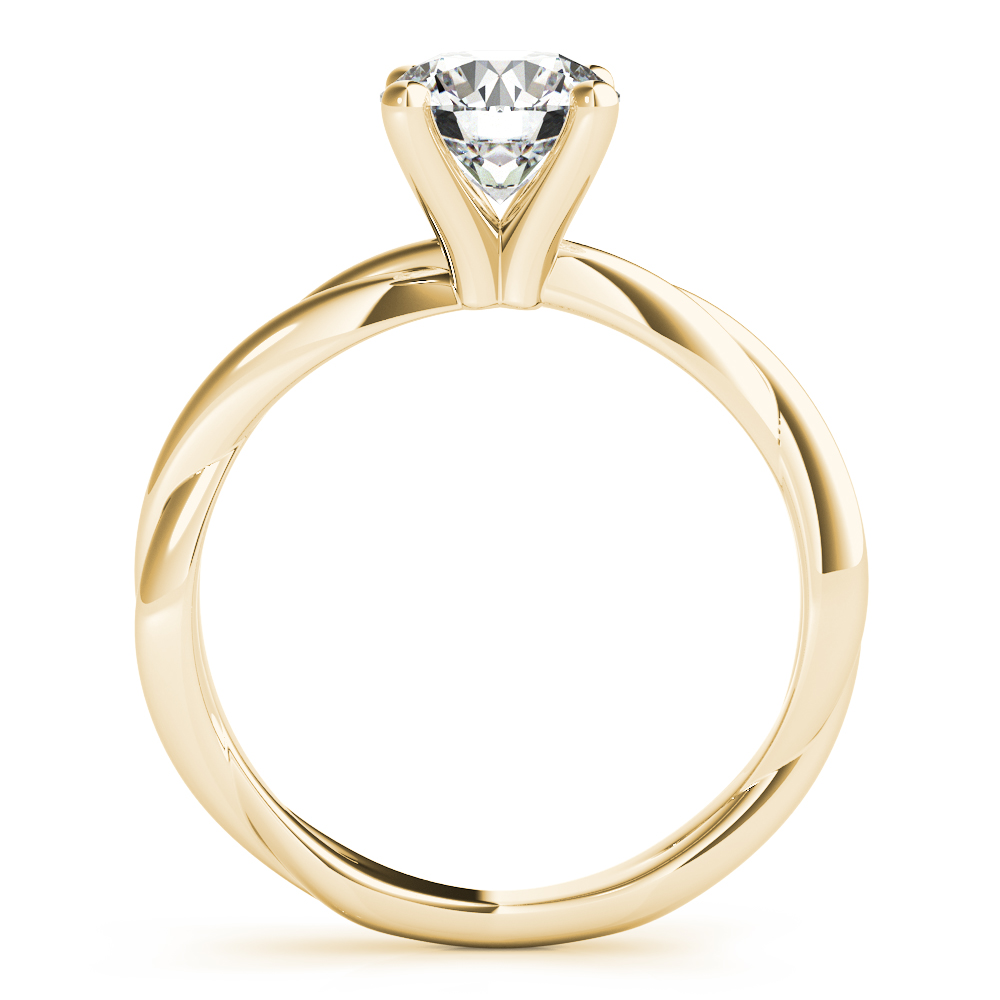 Solitaire Infinity Engagement Ring Yellow Gold
