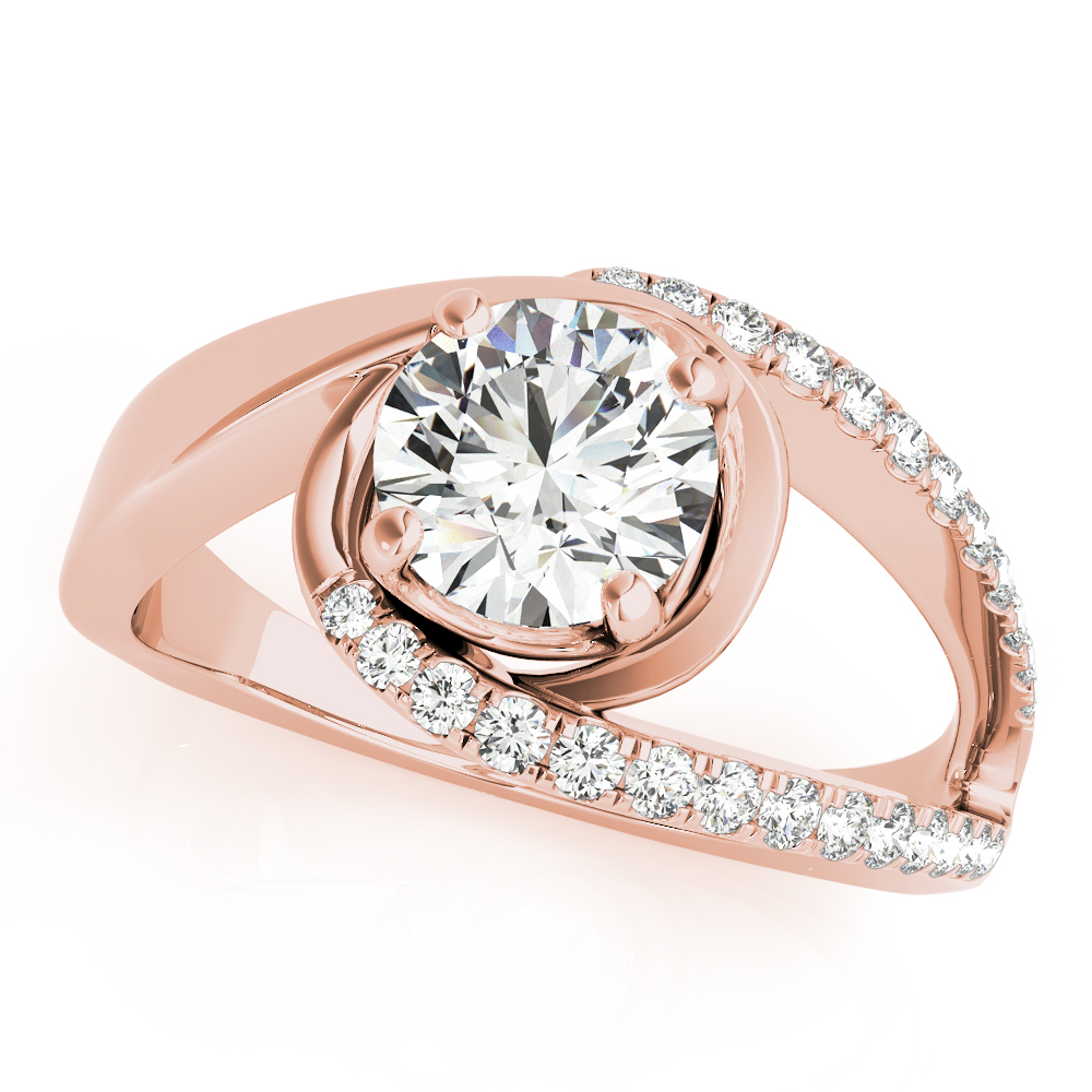 Swirl Split Band Bridal Set Rose Gold