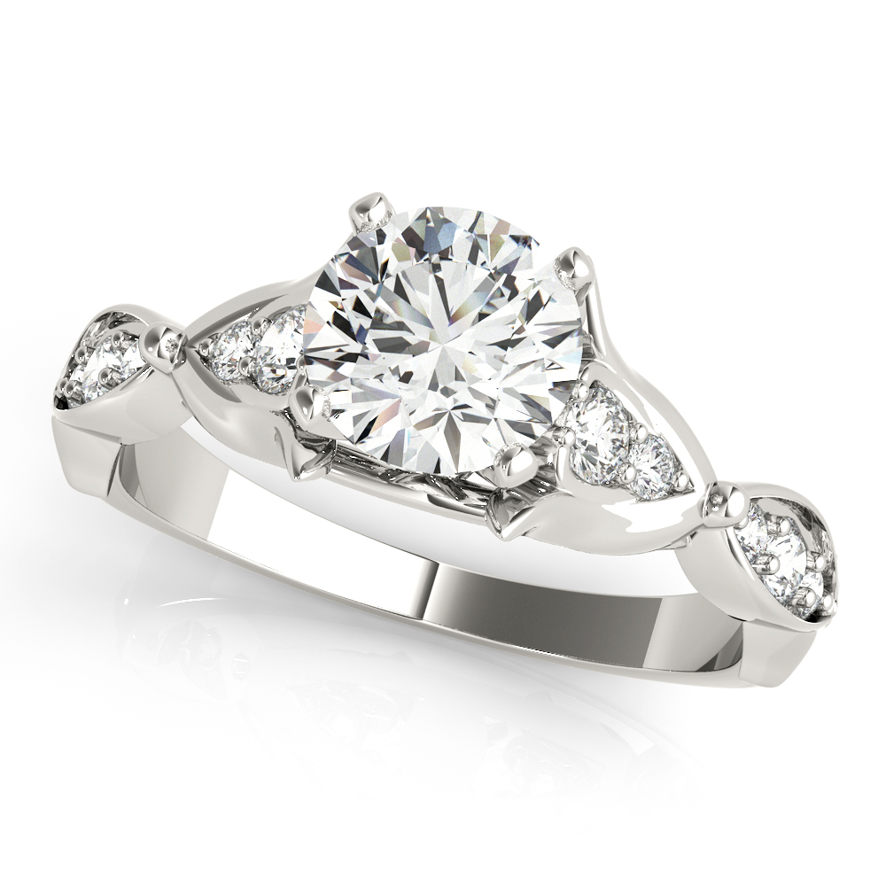Floral Swing Diamond Engagement Ring
