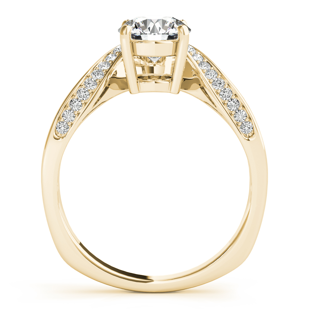 Art Nouveau Diamond Engagement Ring Yellow Gold