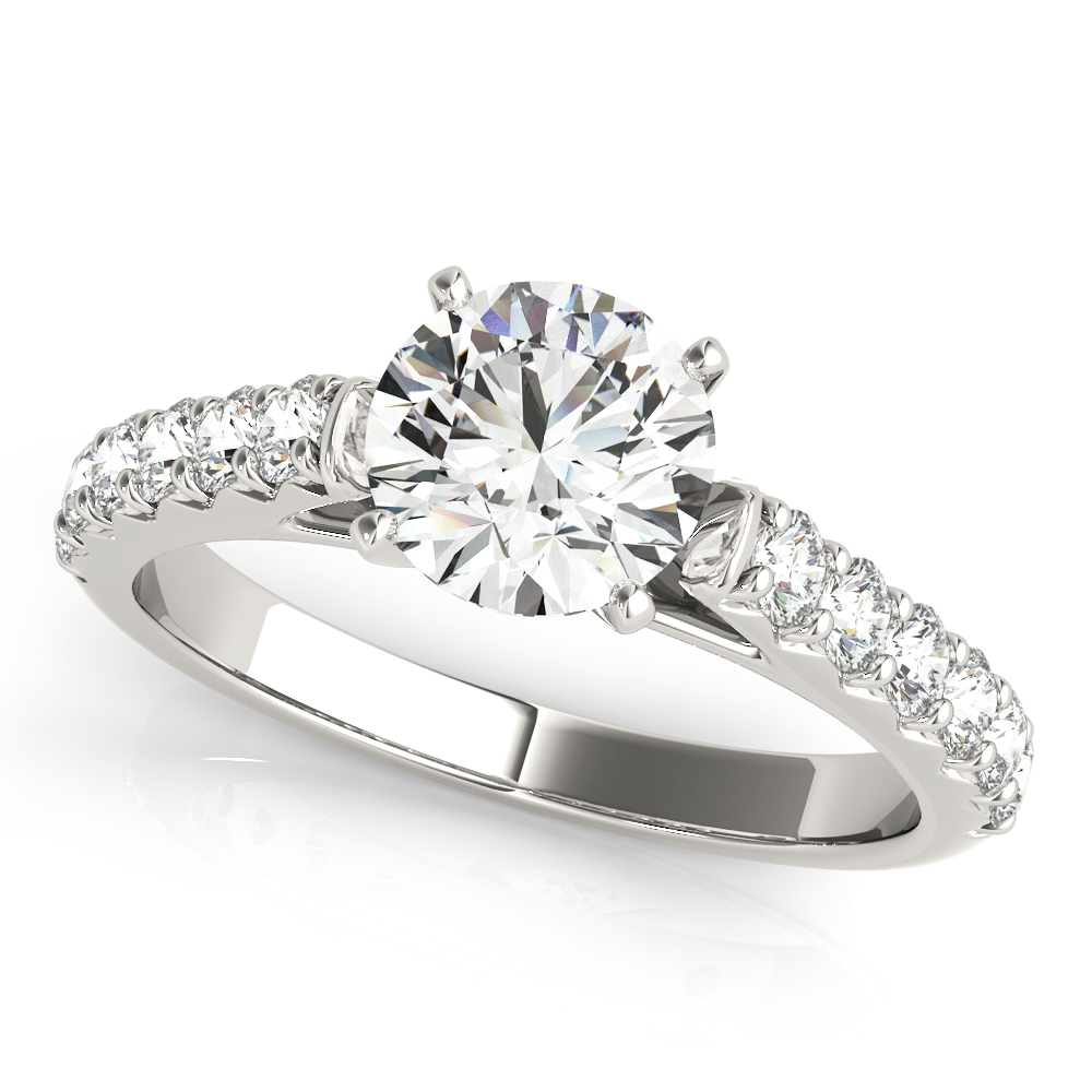 French Cut Diamond Engagement Ring