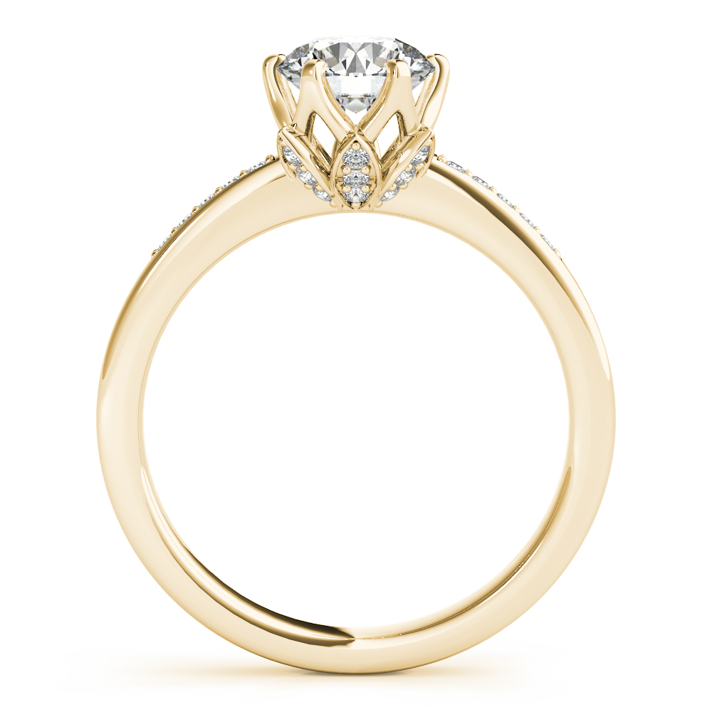 Lotus Flower Engagement Ring Yellow Gold