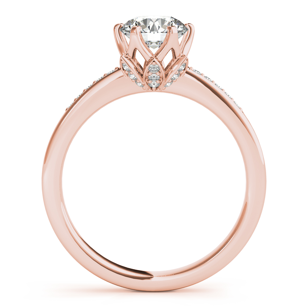 Lotus Flower Diamond Bridal Set Rose Gold