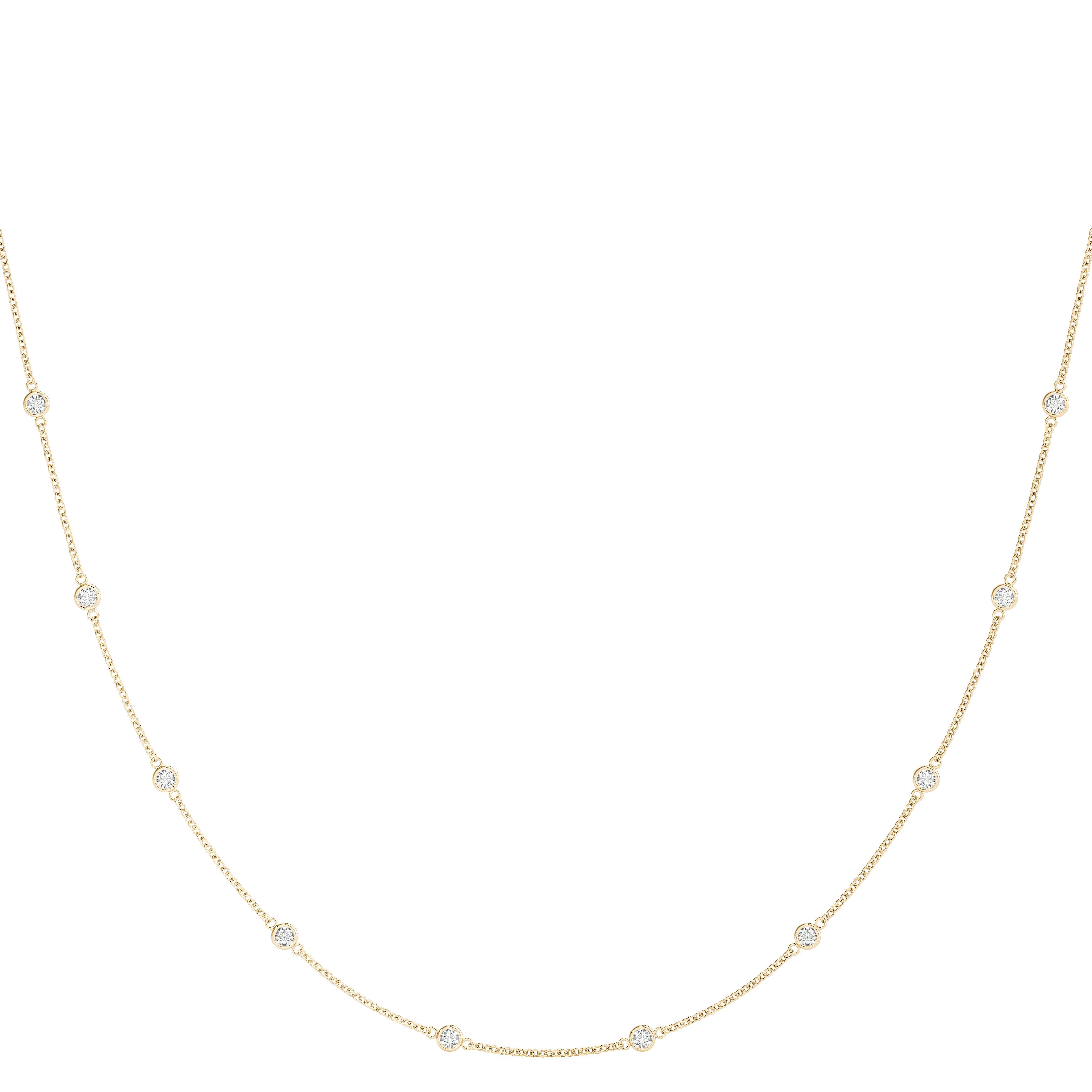 10 Diamonds By the Yard Necklace 1.5 Ct.