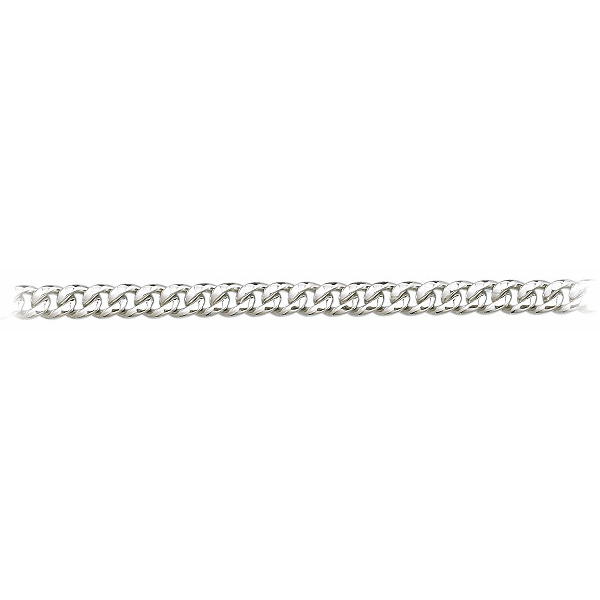 8 Inch 950 Platinum Cuban Curb Chain Bracelet, 6.7mm wide
