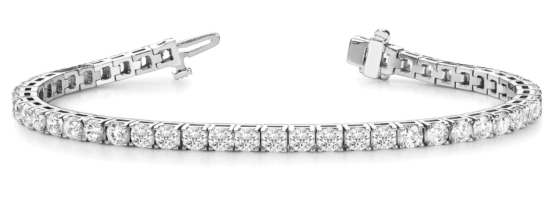8.5 Carat Round Diamond Square Tennis Bracelet Platinum