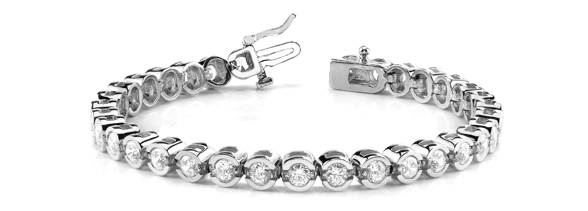 2.5 Carat Round Diamond Square Tennis Bracelet