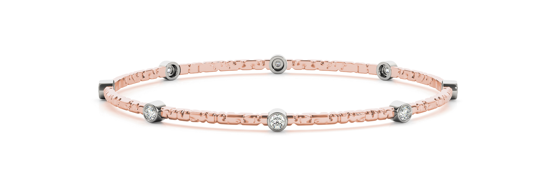 Diamond Bangle in Rose Gold 0.8 Carat