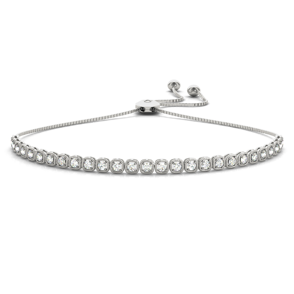 Diamond Adjustable Bracelet with Round Diamonds
