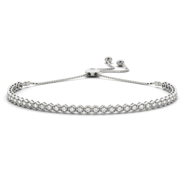 Hexagon Diamond Adjustable Bracelet