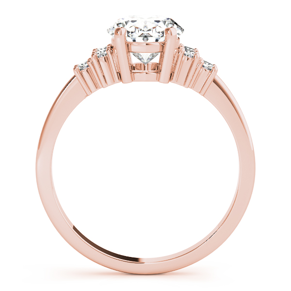 Oval Cluster Diamond Engagement Ring Rose Gold