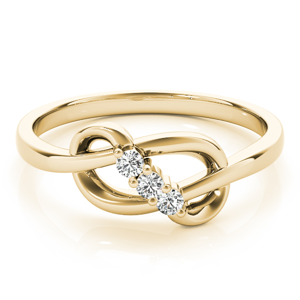 Diamond Infinity Knot Yellow Gold