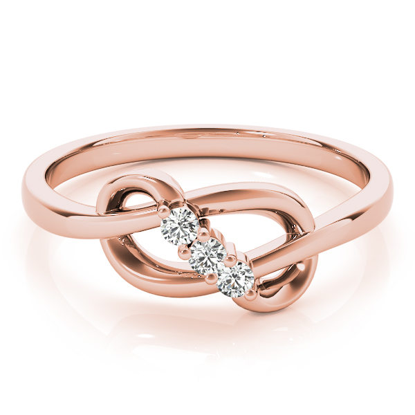 Diamond Infinity Knot Rose Gold