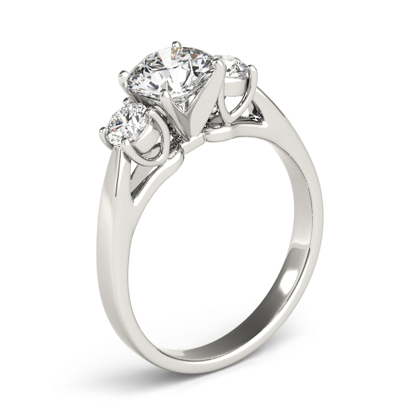 Classic Three Stone Diamond Petite Engagement Ring