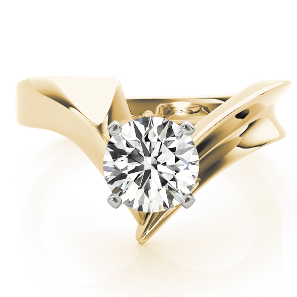 Point Solitaire Engagement Ring, Yellow Gold