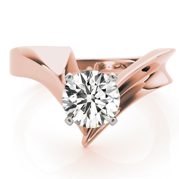 Pointy Solitaire Engagement Ring, Rose Gold