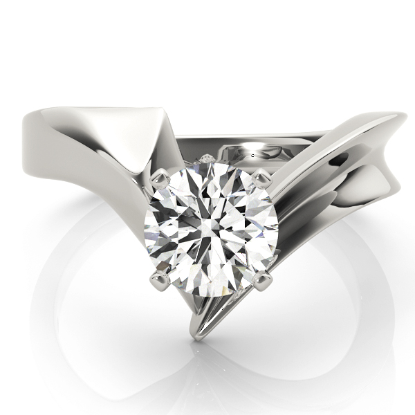 Pointy Solitaire Engagement Ring