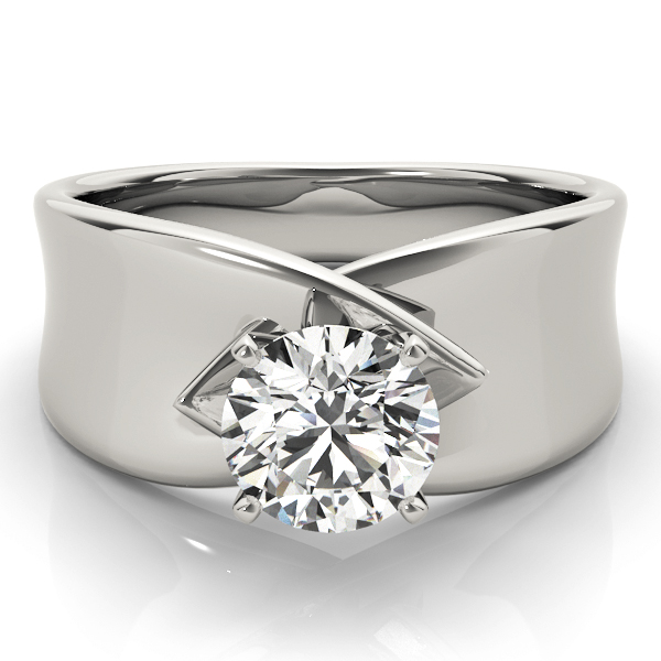 Criss-Cross Solitaire Engagement Ring