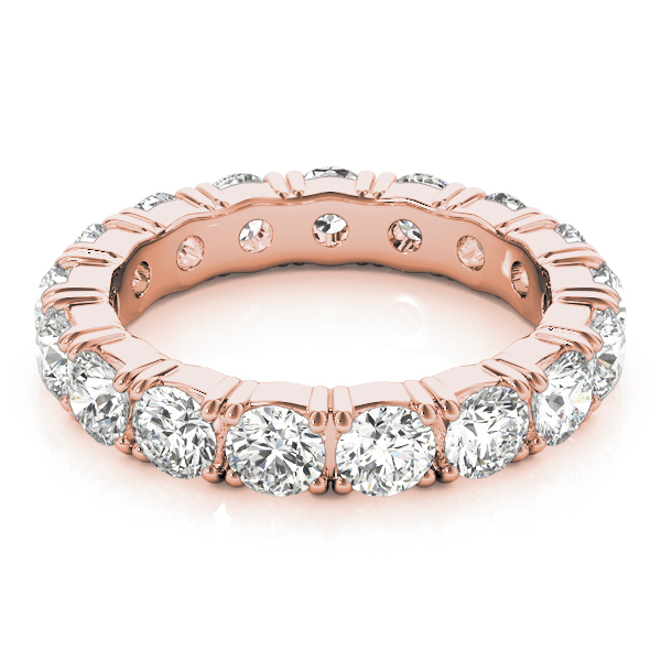 Round Diamond Eternity Band 1.7 Ct Rose Gold