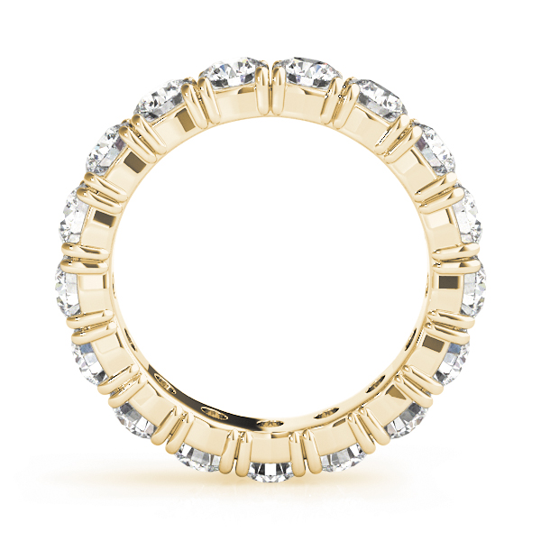 Round Diamond Eternity Band 1.7 Ct Yellow Gold