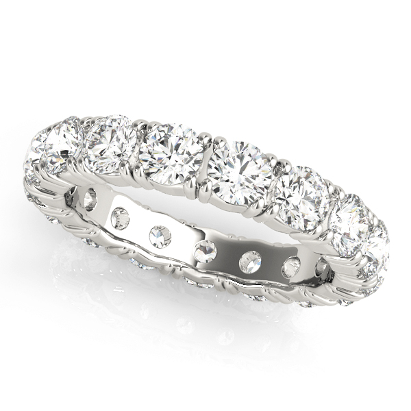 Round Diamond Eternity Band 2.55 Ct Platinum