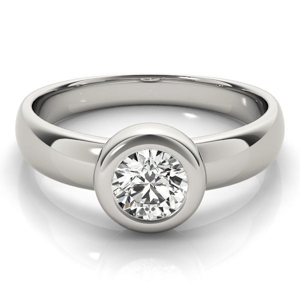 Classic Bezel Dome Solitaire Engagement Ring