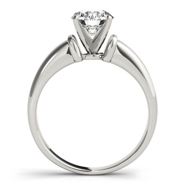 Concave Solitaire Engagement Ring