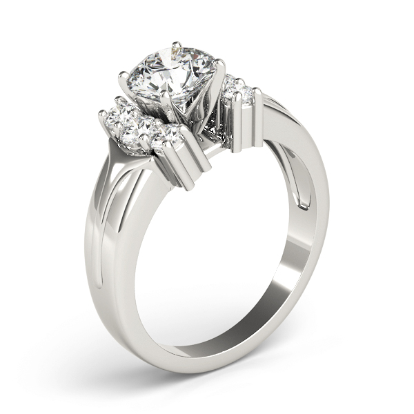 Diamond Huggie Diamond Engagement Ring