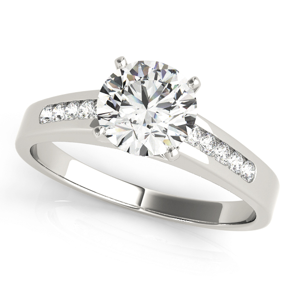 Petite Cathedral Classic Diamond Engagement Ring