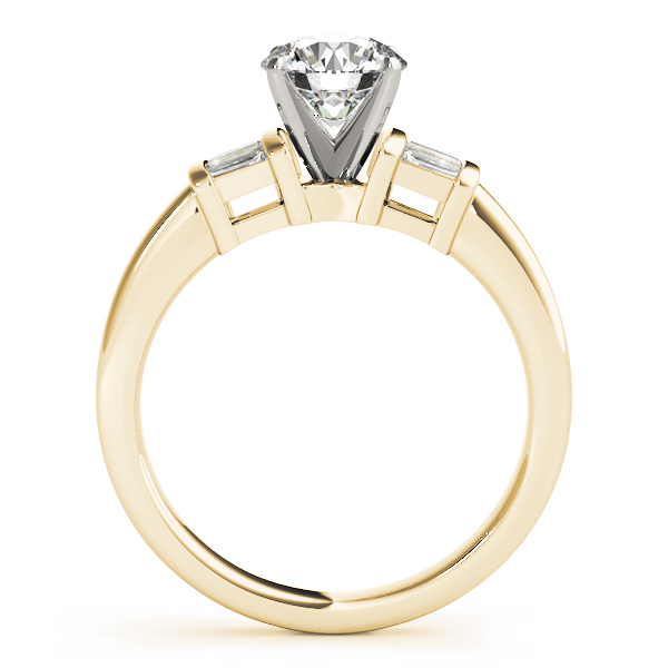 6 Baguette Diamond Engagement Ring Yellow Gold