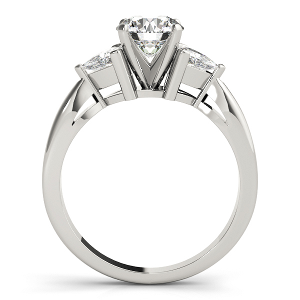 Three Stone Classic Trillion Engagement Ring - 3 x 3mm
