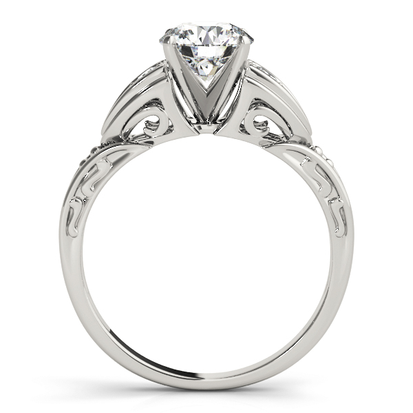 Art Deco Diamond Engagement Ring with Filigree & Engraving