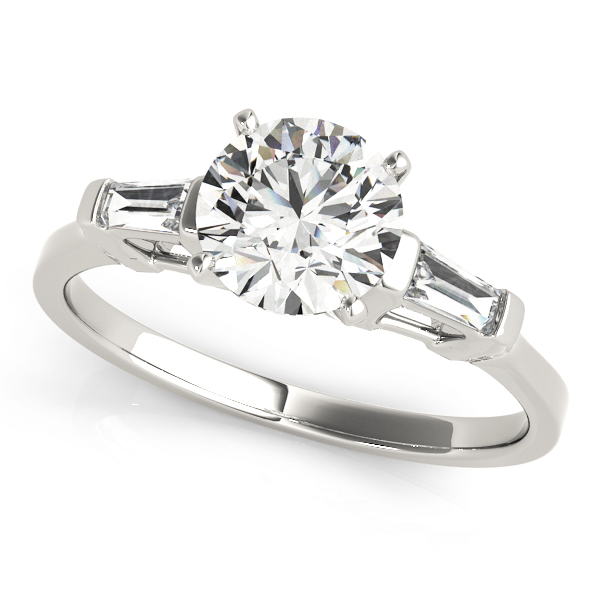 Classic Tapered Baguette Cut Diamond Engagement Ring