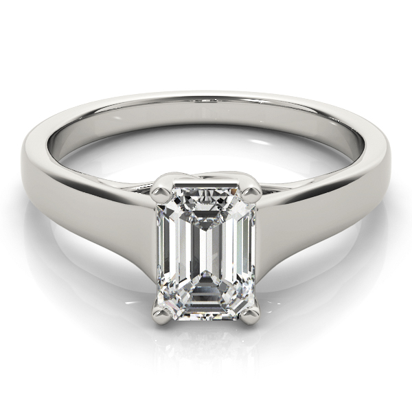 Trellis Emerald Cut Diamond Solitaire Engagement Ring