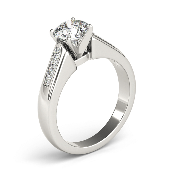 Classic Petite Pave Diamond Engagement Ring