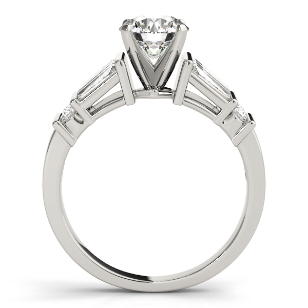 Classic Baguette & Round Diamond Engagement Ring