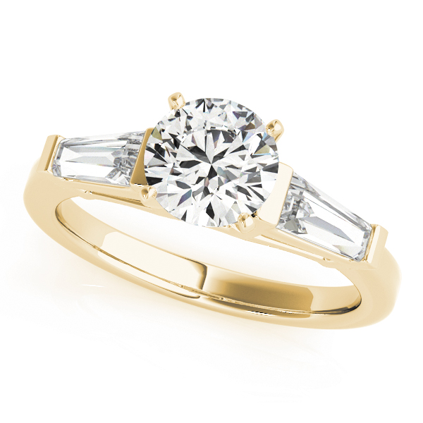 Baguette Diamond Engagement Ring Yellow Gold