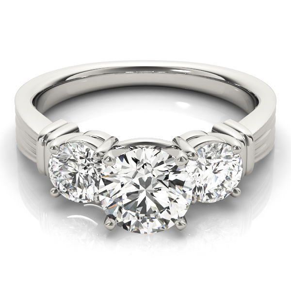 Three Stone Classic Engagement Ring