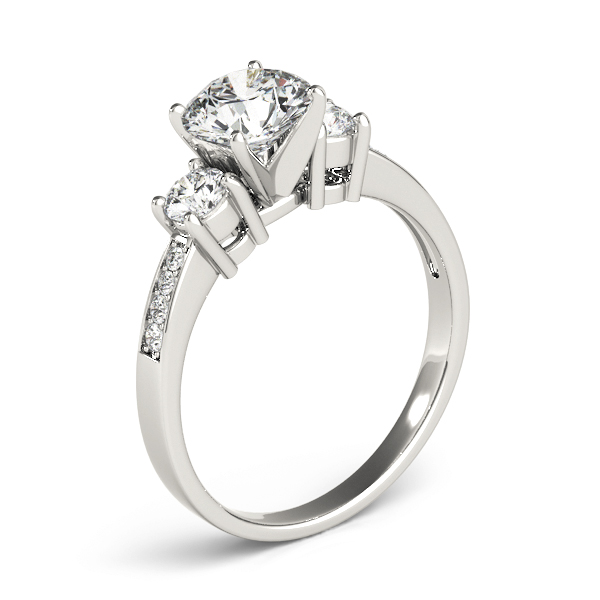 Three Stone Diamond Engagement Anniversary Ring
