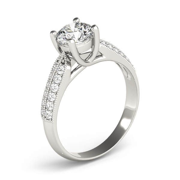 Trellis Knife Edge Diamond Engagement Ring
