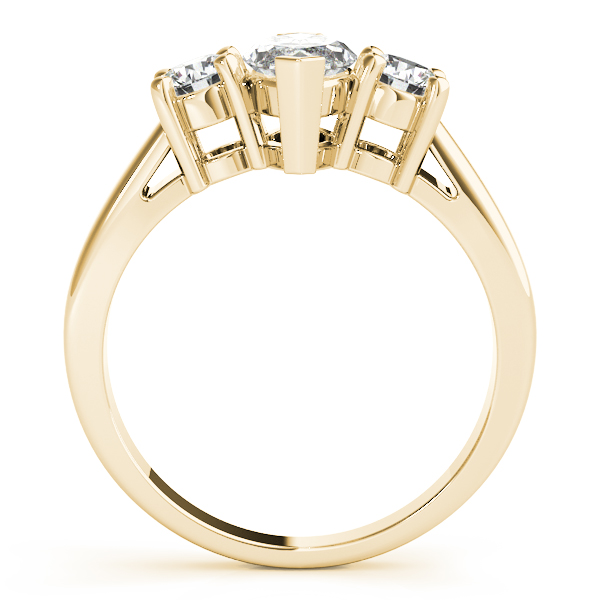 3 Stone Marquise Engagement Ring Yellow Gold