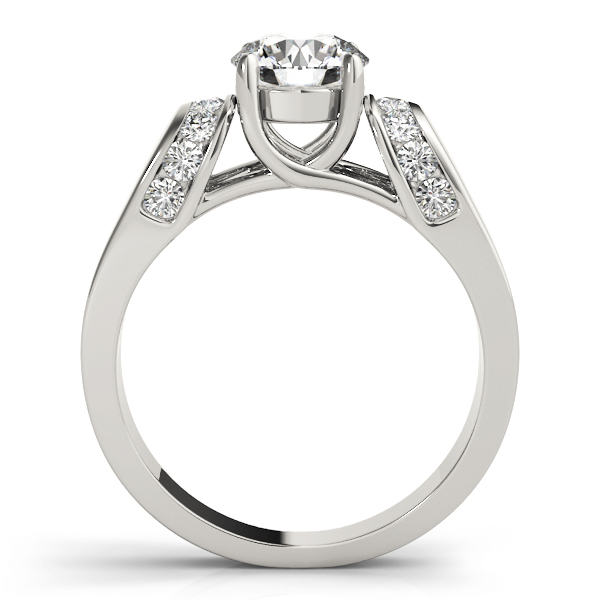 Trellis Diamond Horseshoe Engagement Ring