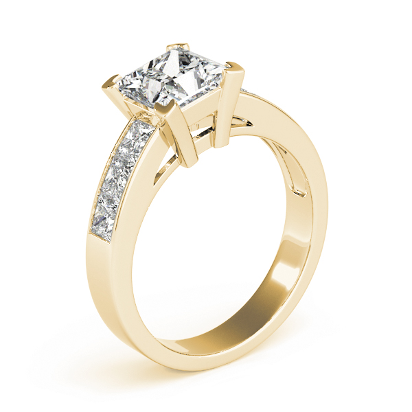 Classic Princess Cut Diamond Engagement Ring in Yellow Gold
