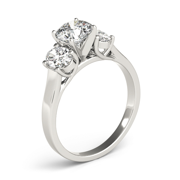 Three Stone Oval Diamond Engagement Ring